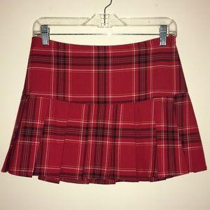 Red Tartan Micro Mini Skirt